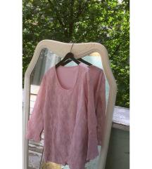 Roze bluza od čipke; M-L