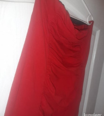 Tally Weijl crvena top haljina xl