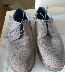 Sive cipele koža