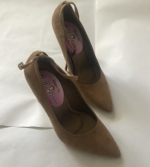 Cipele sa kaišićem kamel