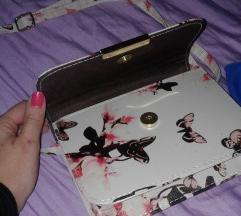 Nova bela torbica sa leptiricima