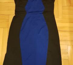"""NOVA """"Orsay"""" plavo-crna haljina bez rukava, vel.36"""