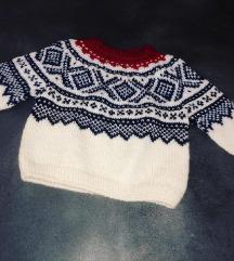 Ručno rađeni džemper Marius skandinavski dezen