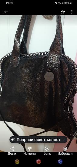 Crno srebrna torba