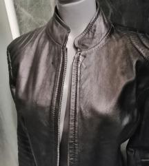 Crna kožna jakna nekorišćena