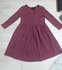 Pamucna bordo haljina kao nova