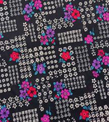 Vintage duga zvonasta cvetna suknja  - UNIKAT