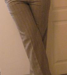 Krem stofane pantalone