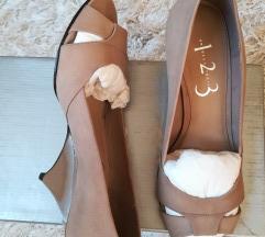 Krem kožne cipele