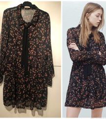 mango crna cvetna haljina sa masnom 🖤❤️🖤snizeno