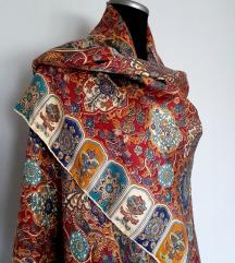 Ogromna vintage svilena marama-(100%svila)