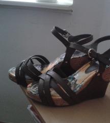 Maslinasto zelene kožne sandale - SHOESTAR