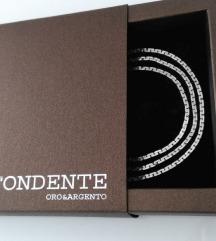 Srebrni komplet ogrlica i narukvica -925 Italy