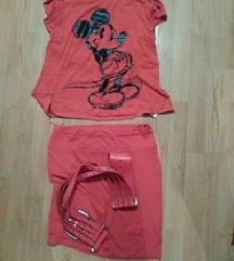 Disney majica i suknjica