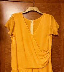 Svilena žuta haljina%%% rezerev.