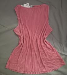 🍓 [SNIŽENO sa 1500 / NOVO] H&M plisirani rozi top
