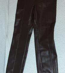 Nove Zara kozne pantalone S vel tamno braon