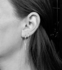 Minđuše srebrne 925 - više načina nošenja