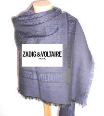 rezz Zadig scarf veliki teget NOVO