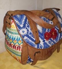DESIGUAL odlicna velika torba sa dugackim kajisem