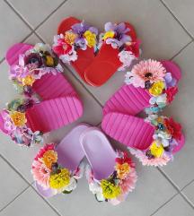 Papuče sa cvetovima 37,38,39,40