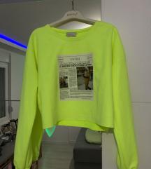 Crop neon majica