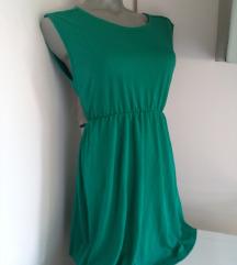 Zara trafaluk zelena haljina M