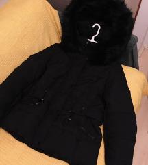 ❄️ Veoma topla | Crna jakna sa krznom