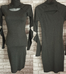 NOVA Tamno siva haljina