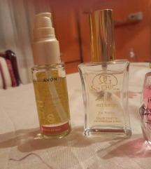 Dva parfema i silikonske kapi za kosu