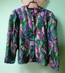 Vintage divna svilenkasta bluza-košulja vel.L