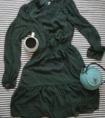 rezz Zelena Reserved haljina sa reljefnim tufnama