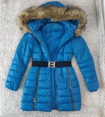 Plava zimska jakna