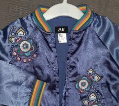 Nova H&M ljubicasta tanja jakna do 2,5-3god
