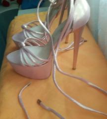 Roze Perla  sandale na štiklu