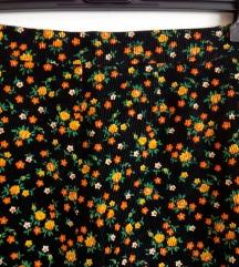 Suknja maxi somot