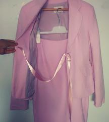 Afrodita komplet (sako i suknja) u boji  jorgovana