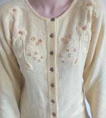 Žuti vintage džemper