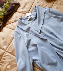 H&M dugi svetlo plavi sako/mantil-NOVO