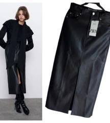 Zara pencil suknja od veštačke kože✨NOVO