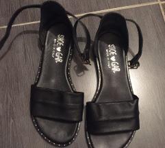 Sandale ravne kozne