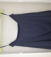 Navy plava suknja
