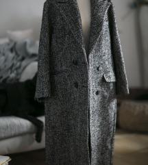 Oversized crno- beli melirani kaput