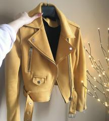 Zara zuta kozna jakna