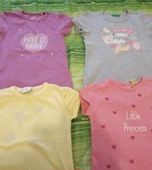 4 majice za devojčicu za 3-4god