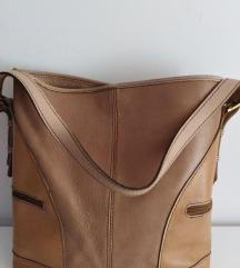 ITALY velika torba prirodna 100%koža 35x35