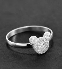 mickey mouse srebrni prsten