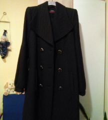 Crni kaput kao nov, 50% vuna