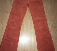 Narandžaste somot pantalone HAPPENING