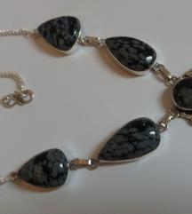 Obsidian u srebru